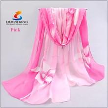 2015 brand new woman scarf long arab hijab print silk chiffon scarves fashion shawl