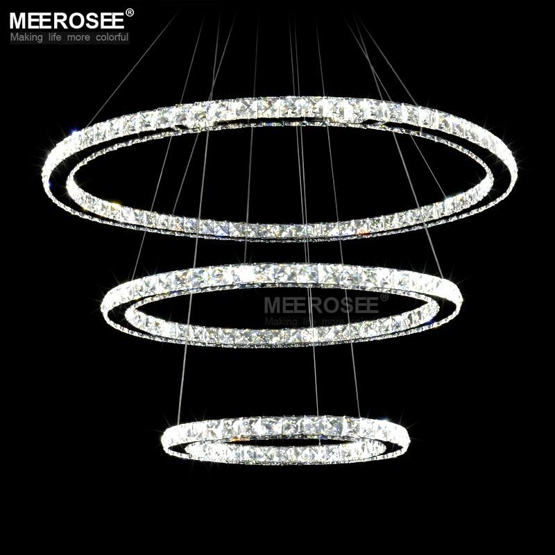 Anello di cristallo Lampadario Lampada A Sospensione A LED MD8825 ...