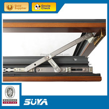 High quality residential wood grain aluminum frame window and door modern house design