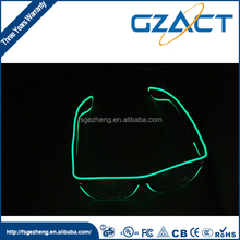 Promotional fancy flashing EL glasses for teenagers Christmas decoration