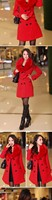 женщин лисий мех воротник и длинные секции slim толстые шерстяные пальто новых осенью и зимой одежду женщин пальто шерстяное