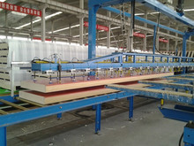 Polyurethane PU sandwich panel manufacture