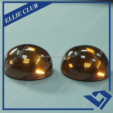 polished champ color round smooth face cz gems from factory