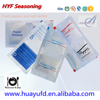 Travelling Condiment 5g Packet Pepper Salt for Packing Fast Food