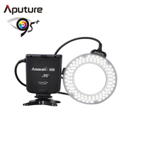 CRI 95+ macro Ring Flash HN100 with Stepless dimmer with precise outpu Aputure for Nikon DSLR camera LED Macro