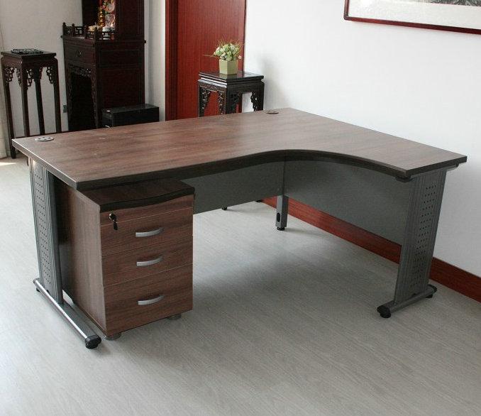 L shaped mdf office desk wooden office furniture desk for Muebles de oficina en l