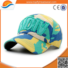 Hot Sales Children Camo 3D Embroidered Baseball Caps
