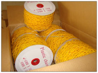 high quality 6mm yellow plastic link chain
