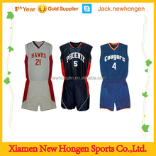 Wholesale blank basketball jersey/basketball uniform/basketball wear