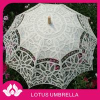 "19""*8K lace wedding white parasol craft umbrella"