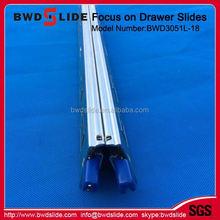 mini ball bearing drawer slides/silent damping drawer slide/soft closing BWD3051L-18