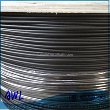 7x7 3mm-4mm black pe coated steel cable rope for vineyard