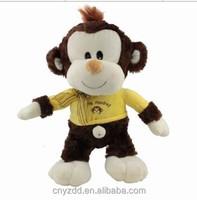 Stuffed Pet Customized Lovely Monkey 35 total Length/Plush Cute Monkey Wearing Clothes/Stuffed Animated Animal Toy Monkey