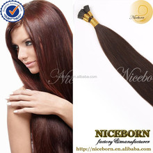 wholesale 5a brazilian remy hair 20inch100% Virgin Pre Bonded I Tip Hair,STICK Tip Hair Extension