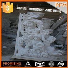 Hotel designs carved natural marble candle holder statue