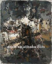 Impressionist Village Nightscape Painting