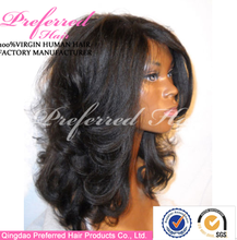 High quality and fast delivery short full lace wig for black women
