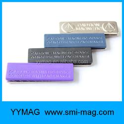 Reusable magnetic name badge holder