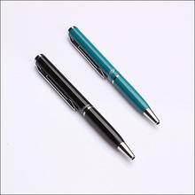 Black and blue metal short pen