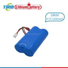 Popular Product Li-ion 18650 3.7v 5200mah Battery Pack