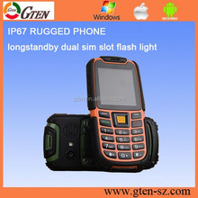 Original IP67 rugged android phone with nfc S6 2500mAh Battery Long Standby Loud Sound Shockproof