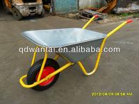 wb6404H axle bracket galvanized tray builder 200kg capacity wheelbarrow factory