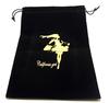 Custom High quality silk screen printing logo large velvet pouch/velvet bags