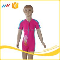 Girls Cartoon Surf Wear Kids Protective Rush Guard Beach Wear