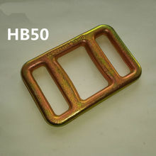50mm copper stair Buckle for woven strap, 1 inch metal stair buckle for strapping