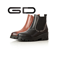 Mexican western genuine leather ankle boots for women
