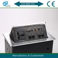 Multiple socket with Internet port sockets pop-up outlet