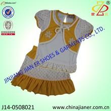 Jianer 100% de algodón nuevo- diseñado ropa de niño juegos para niñas