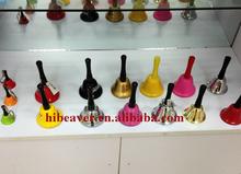 cheap brass temple handle bell iron christmas wood handle bell big brass bell