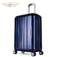 abs pc zipper lock trolley luggage with laptop compartment