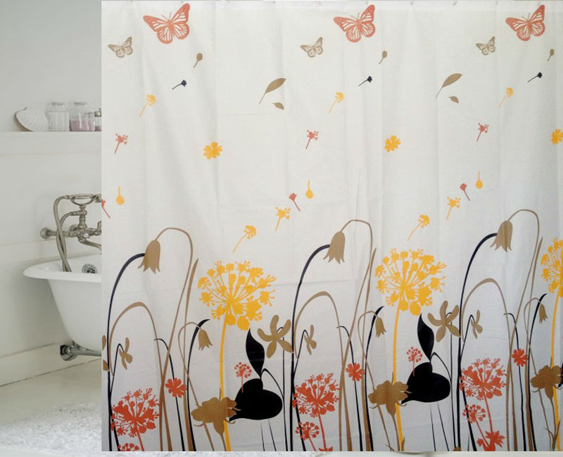 Bathroom Accessories Home Goods Printed Peva Window Curtain As Shower Curtains