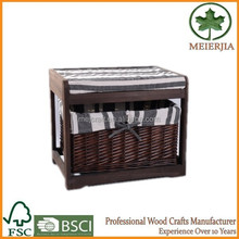 indoor furniture wicker drawer wood ottoman
