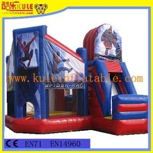 0.55mmPVC used commercial bounce houses for sale ,inflatable bouncer ,Spider-Man bouncy castle