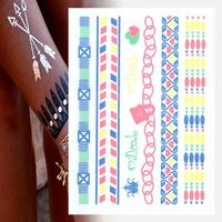 Hot Metallic Temporary Tattoo Sticker Hot Images Sexy Tattoo Custom Stickers And Decals