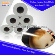 High premium resin coated glossy photo paper A4
