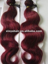 Factory wholesale price Burgundy color virgin Malaysian sticker hair extensions