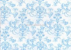 bright print fabric blue flowers