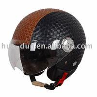 ece leather motorcycle helmet open face helmet HD-592