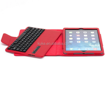 2015 newly good price multi color leather case wireless bluetooth keyboard for ipad mini air