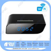 2015 Newest Mini P2P IP Wireless Table Clock Camera Night Vision Motion Detection Wireless CCTV Table Clock Camera With Alarm