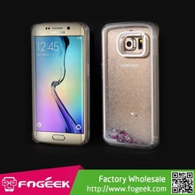 Fast Delivery For Samsung Galaxy S6 Edge G925 Dynamic Glittery Translucent Flash Powder PC Cover