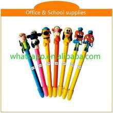 diy cartoon polymer clay ball pen gel ballpens