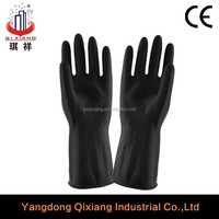 70g-85g black or white oven industrial latex glove/hand work rubber industrial latex rubber gloves