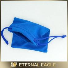 New fashional colour suede jewelry bags with logo jewelry bag pouch