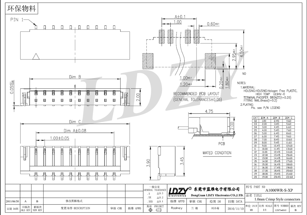 ul 1mm pitch 14 pin jst ssr connector