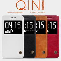 Nillkin Qin Vintage flip Leather Case with view window for HTC One A9